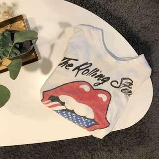 Vintage Rolling Stones Crop Tee