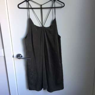 Green White Fox Boutique Dress