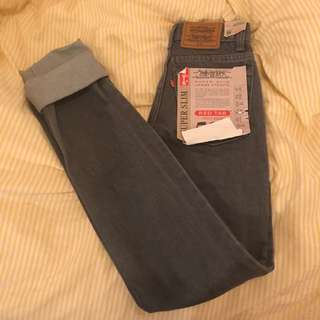 Vintage High Waisted Grey Levi Jeans