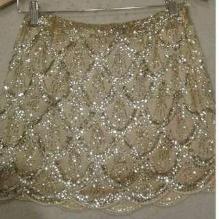Blonde gold skirt, size 00