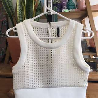 Staple The Label Crop White Top