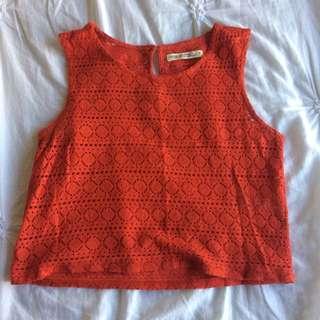 Jorge Orange/Red Crop Top