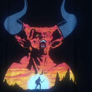Unisex T-Shirt L & XL Black - Legend/Movie/Darkness/Devil/Popular Culture