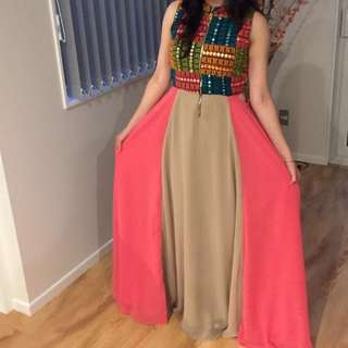 Multicolored Long Gown