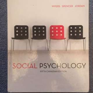 Social Psychology 5th edition textbook by Myers Spencer Jordan