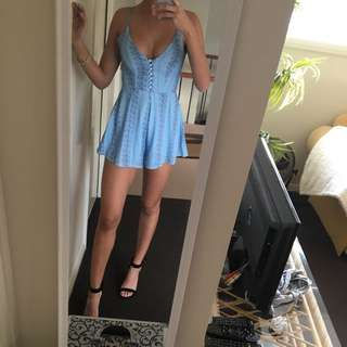 Beautiful Blue Button Up Playsuit 6