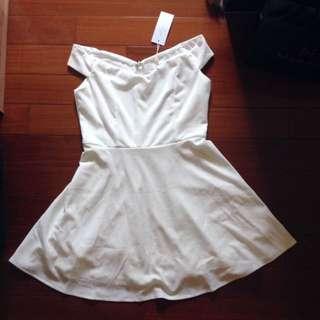Air Space 白色小洋裝