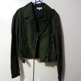 Khaki Crop Jacket