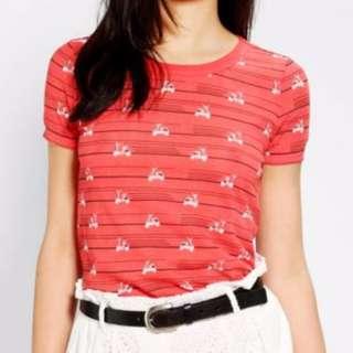 Red print t-shirt
