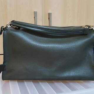 army green bag (Zalora)