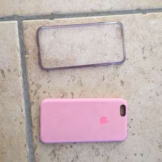 iPhone 6 Cases (Clear And Pink)