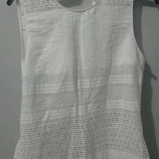 Zara Basic White Blouse
