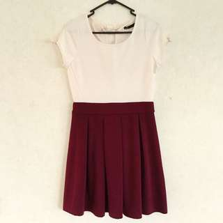 Dotti Dress With Pleated A-line Skirt