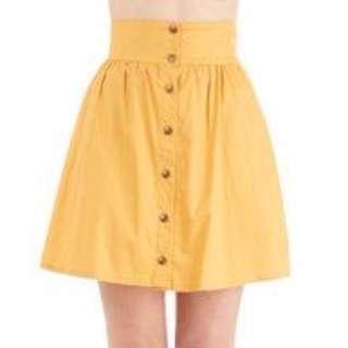 Yellow/mustard skirt