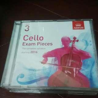 cello grade 3 exam abrsm 大提琴考試