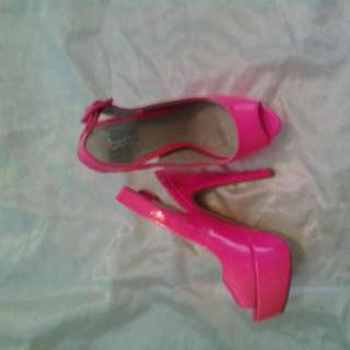 Hot Pink Stilleto Heels Size 6