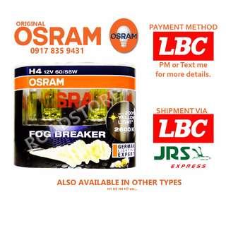 Osram H4 H7 Night Breaker Laser and Fog Breakers Twin Pack