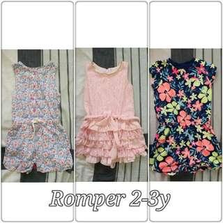 Bundle: Romper 2-3y