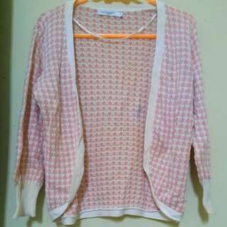 Hush Puppies Pink Knit Outer