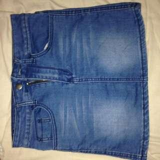 Stretchy Denim Short Skirt | Paper Hearts ♥️