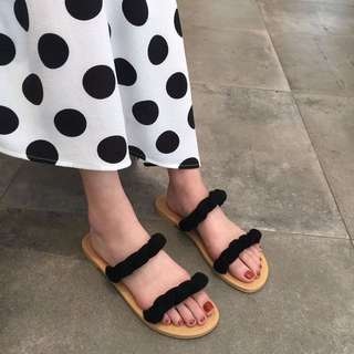 ◾️韓版麻花平底拖鞋