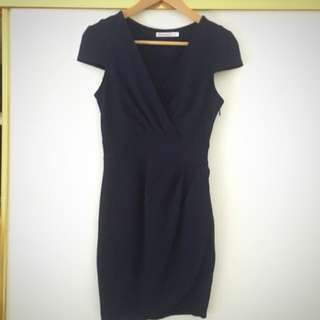 Navy Fitted Dress Size 8