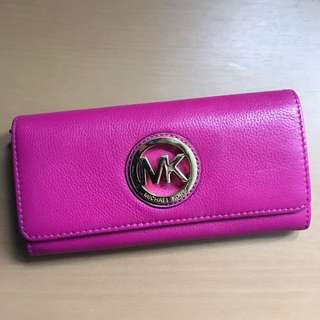 Michael Kors Fuschia Leather Wallet