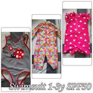 Bundle: SPF 50 swimsuit 1-3y