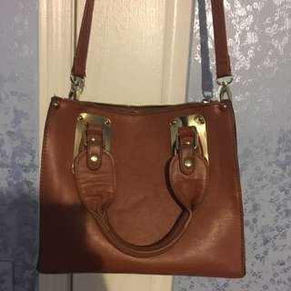 Authentic Steve Madden Brown Leather Cross Body Bag