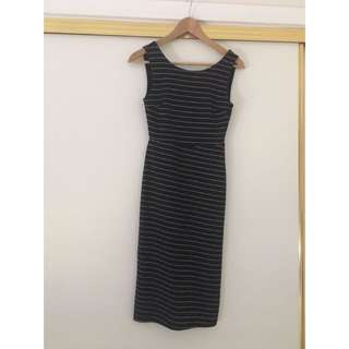 Fitted Midi Dress Size 6