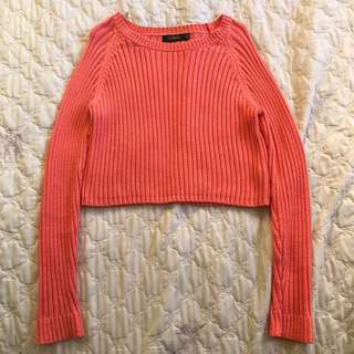 CROPPED KNIT SWEATER JUMPER
