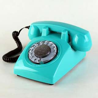 Loud-coloured Rotary Dial Telephone