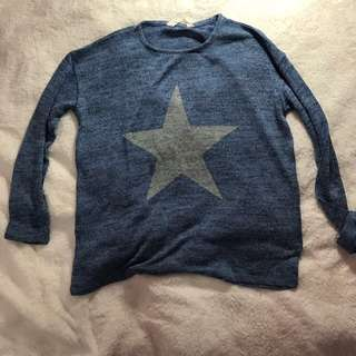 H&M knitted blue sweater