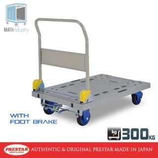 PRESTAR (Made in Japan) 300kg Folding Handle Trolley  with Brake Plastic Base Heavy Duty Hand truck