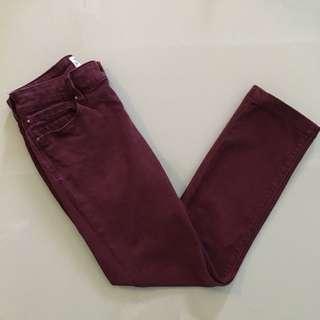 River Island Skinny Jeans In Plum - Maroon