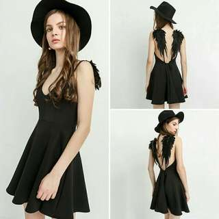 Black Angel Dress Size 8-10