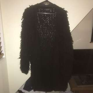 Black Furry Coat