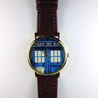 Police Box Watch, Vintage Watch, Unisex, Men's Watch, Women's Watch