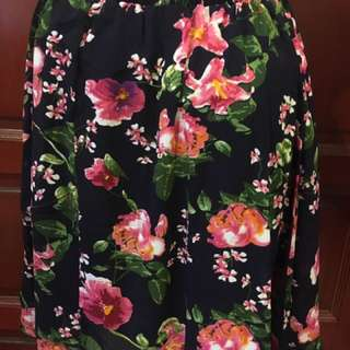 Polyester Floral Skirt