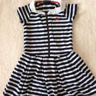 Size 5 Periwinkle Nautical Dress