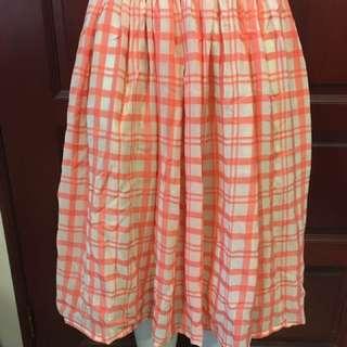 Polyester Checks Skirt