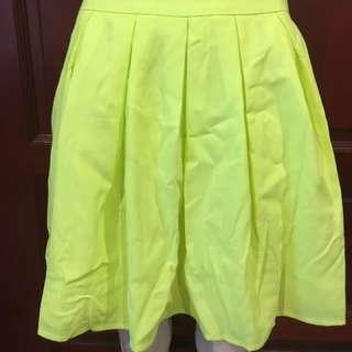 Florescent Aline Pleat Skirt