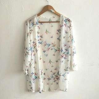 Japanese Kimono Silk Cardigan