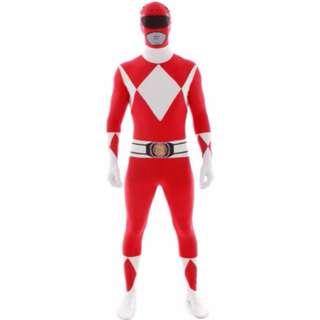 Power Rangers Red Ranger Morph Jump Suit Adult Mens Halloween Licensed Costume