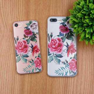 Pink Floral Mobile Phone Case [Apple / Samsung / Oppo]