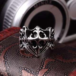 個性十字鈦鋼戒指