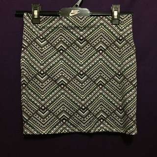 Supre Geometric Mini Skirt Size Small