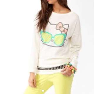 F21 Hello Kitty Speckled Sweater