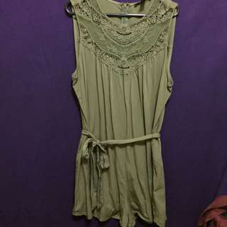 Forever 21 Khaki Playsuit Size Large/12