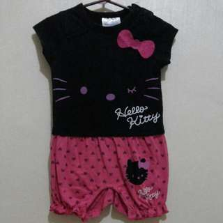 Hello kitty romper black and pink